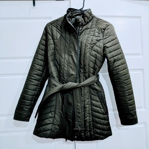 Banana Republic Quilted Belted Coat